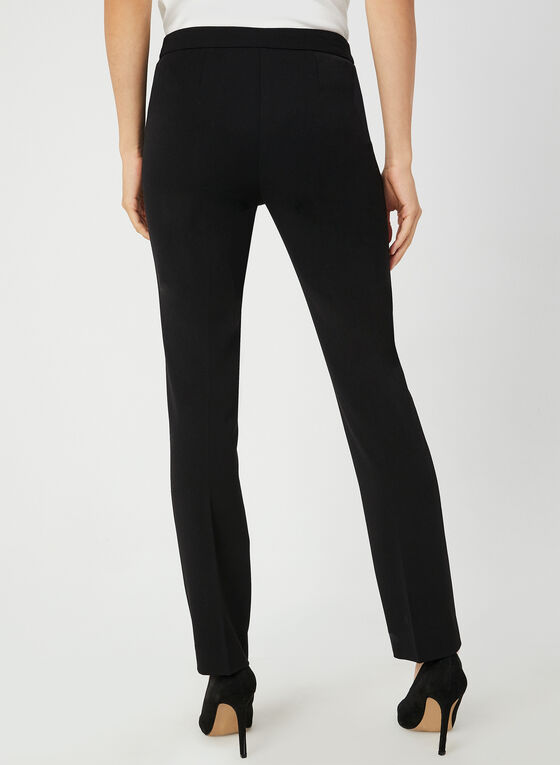 City Fit Straight Leg Pants, Black
