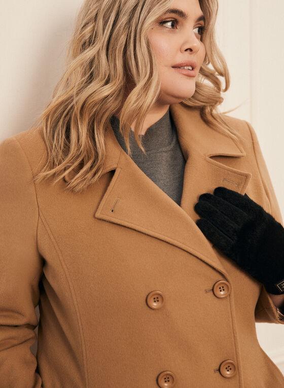 Manteau en laine et cachemire , Brun