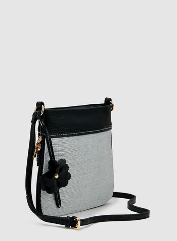 Two Tone Crossbody Bag, Black, hi-res