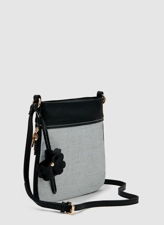 Two Tone Crossbody Bag, Black, hi-res