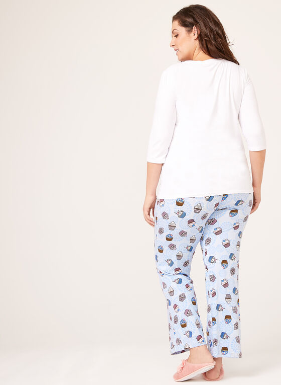 IB Diffusion – Cupcake Print Pajama Set, Blue, hi-res