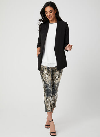 Animal Print Capri Pants, Black, hi-res,  Canada, animal print, pull-on, spring 2019