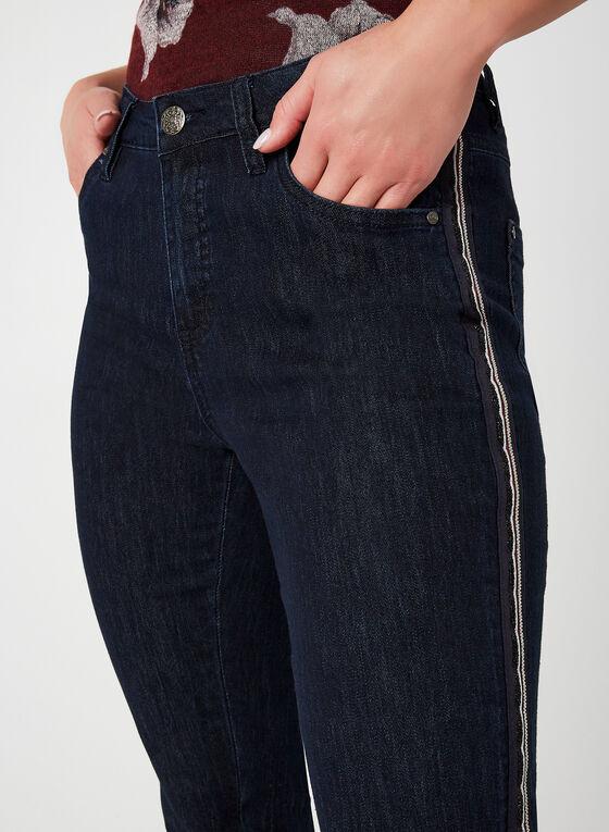 Simon Chang - Jeans coupe signature à bandes, Bleu