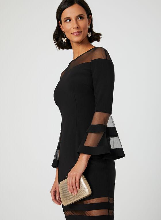 c95392aa4b6a ... Mesh Bell Sleeve Dress, Black, hi-res ...