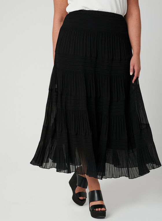 Alison Sheri - Tiered Maxi Skirt, Black, hi-res