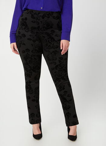 Joseph Ribkoff - Ponte de Roma Leggings, Black, hi-res,  leggings, ponte de roma, straight legs, pull-on, fall 2019, winter 2019