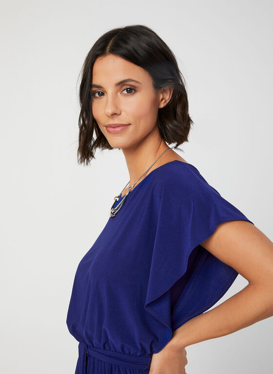Soho - Batwing Sleeve Jersey Jumpsuit, Blue, hi-res
