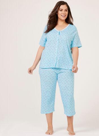 Hamilton - Pyjama 2 pièces motif fantaisie, Bleu, hi-res