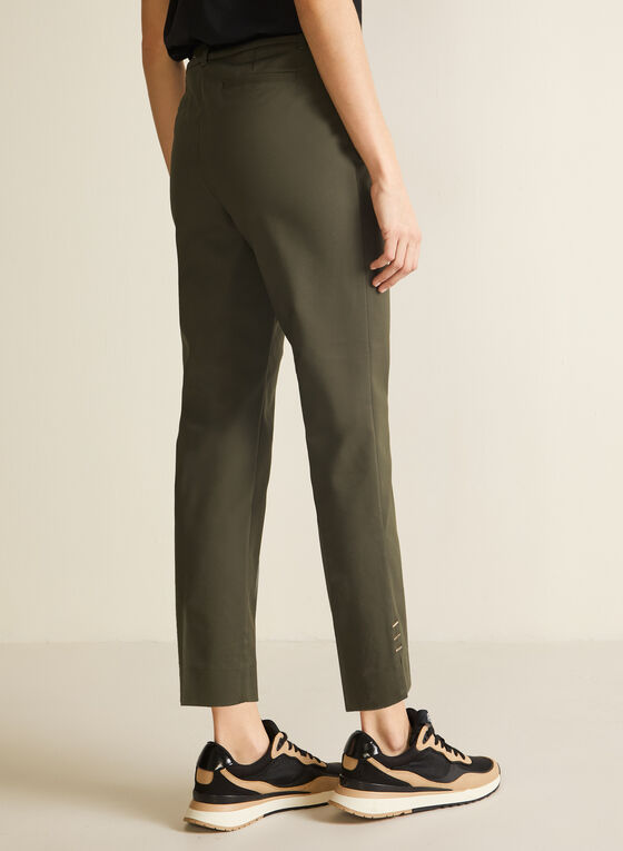 City Fit Slim Leg Pants, Green