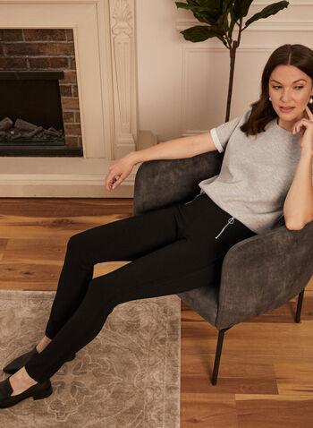Legging à détails zippés, Noir,  legging, pull-on, zip, cité, printemps été 2021