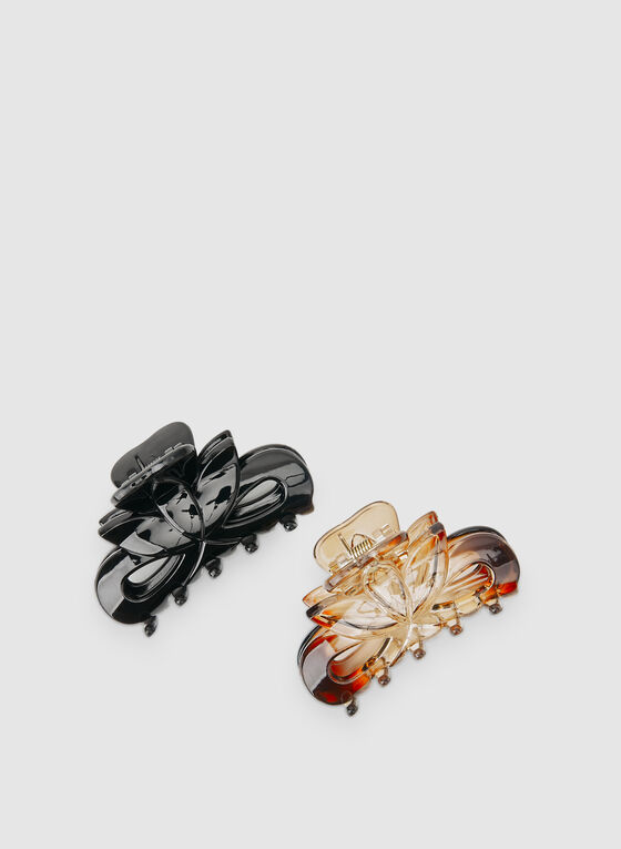 Large Hair Clips, Black