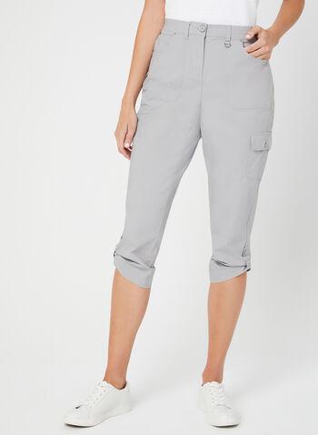 Modern Fit Capri Pants, Grey, hi-res
