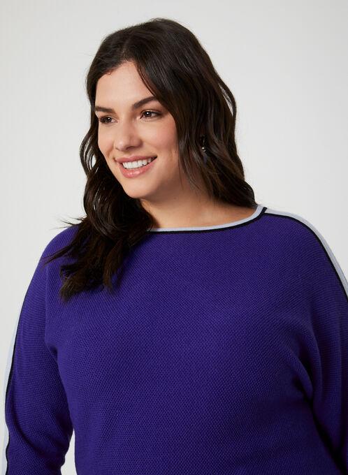 Dolman Sleeve Sweater, Blue