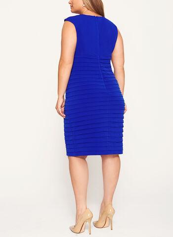 Jersey Shutter Tuck Dress, Blue, hi-res