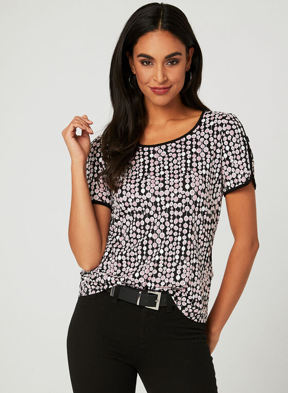 Textured Dot Print Top, Multi, hi-res