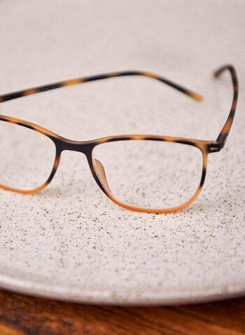 Lunettes de lecture à motif écaille de tortue, Brun,  lunettes, plastique, motif animal, arrondie, printemps été 2021, accessoires