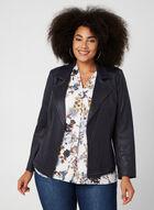 Vex - Faux Leather Jacket, Blue, hi-res