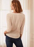 Cable Stripe Sweater, Off White