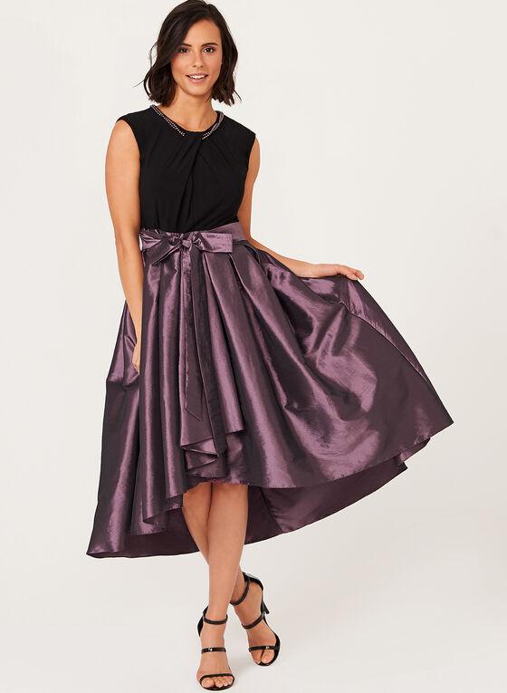 Pearl Necklace Taffeta Gown, Purple, hi-res