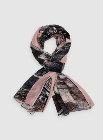 Foulard à rayures diagonales, Rose,  foulard, oblong, rayures, automne hiver 2019
