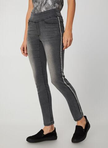 G.G. Jeans - Jeans à jambes étroites , Gris, hi-res,  pantalons jeans pull-on