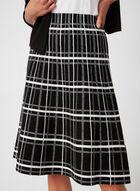 Charlie B - Plaid Print Skirt, Black, hi-res