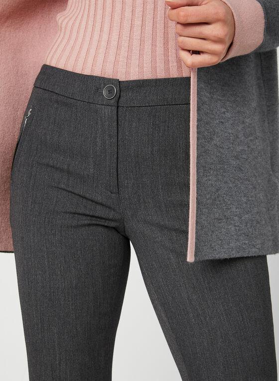 Pantalon coupe cité à jambe étroite, Gris