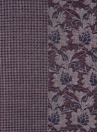 Floral & Houndstooth Prints Scarf, Purple