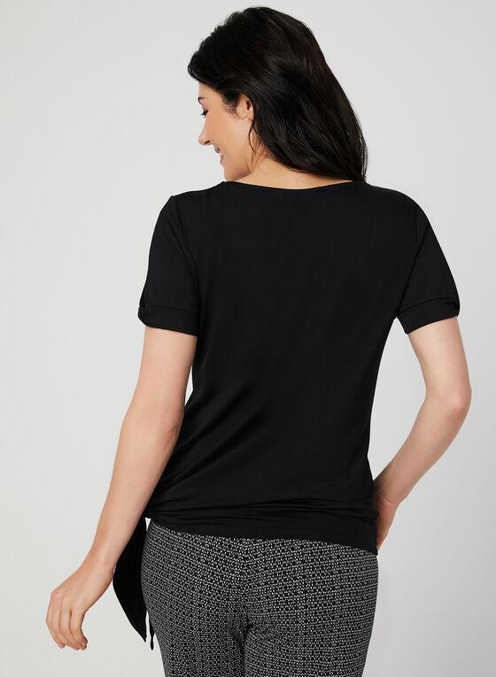 Cold Shoulder Cutout Top, Black, hi-res