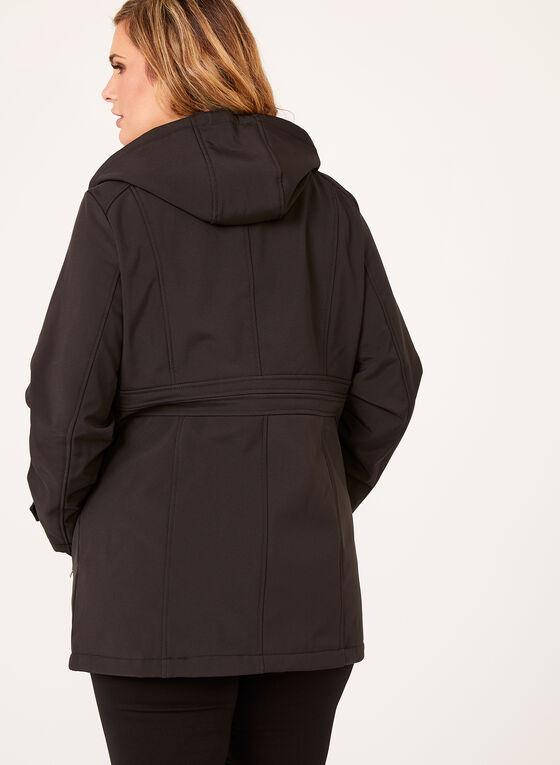Manteau coupe-vent à capuchon, Noir, hi-res