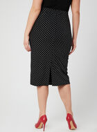 Joseph Ribkoff - Polka Dot Print Pencil Skirt, Black, hi-res