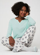 Pillow Talk - 3-Piece Pyjama Set With Socks, Blue, hi-res