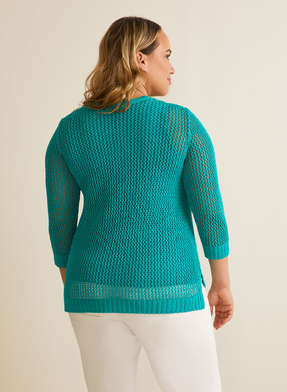 Crochet Sweater With Tank, Green