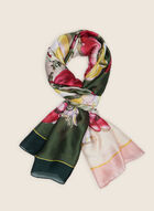 Floral Lightweight Scarf, Green