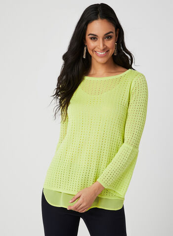 Knit Fooler Top, Green, hi-res,