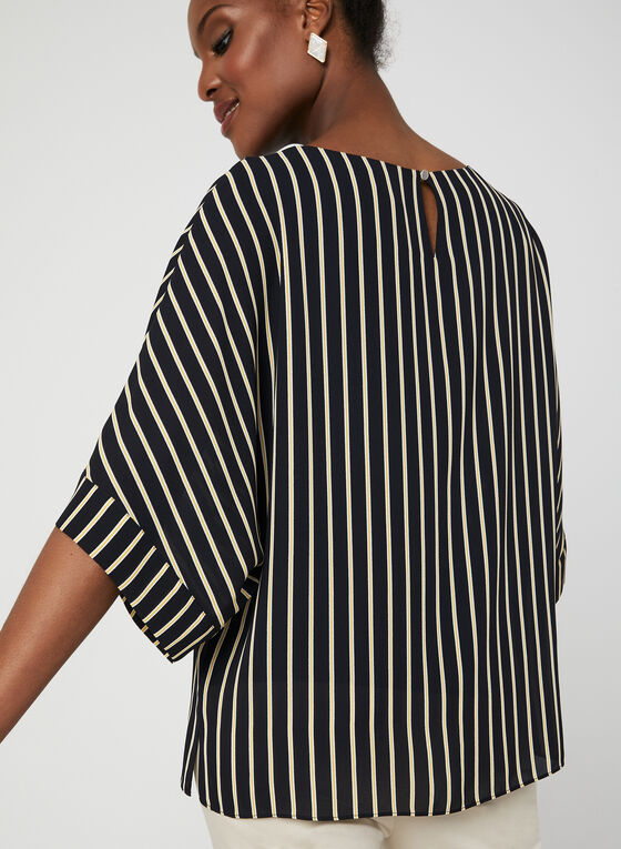 Stripe Print Blouse, Blue