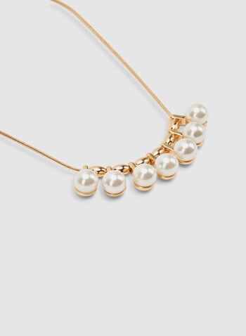 Snake Chain Pearl Necklace, Off White, hi-res