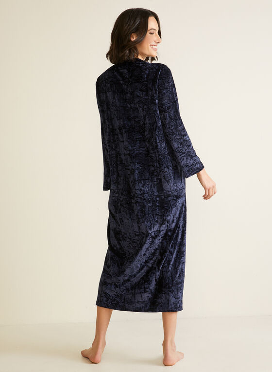 Crushed Velvet Nightgown, Blue