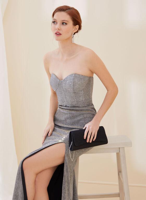 Bustier Glitter Gown, Gold