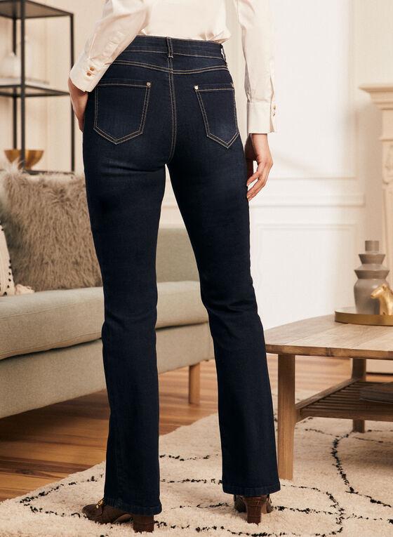 High Rise Flare Leg Jeans, Blue