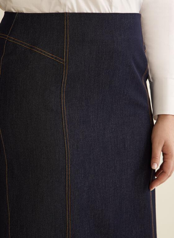 Denim-Like Skirt, Blue