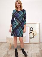 Tartan Print Day Dress, Blue