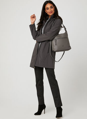 Anne Klein - Softshell Hooded Transition Coat, Grey, hi-res