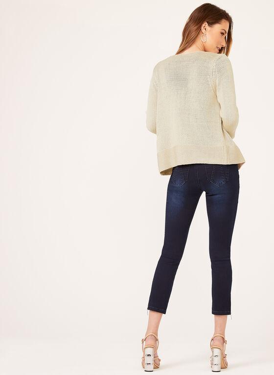 Alison Sheri - Cardigan ouvert en maille tricotée, Gris, hi-res