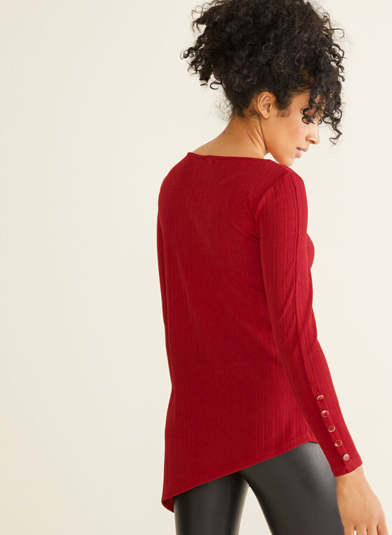 Asymmetrical Tunic Top, Red