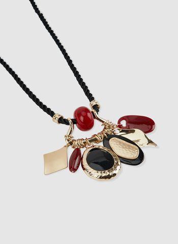 Collier à cordon et pendentifs, Rouge, hi-res