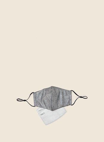 Masque réutilisable chatoyant, Argent,  automne hiver 2020, masque, lavable, réutilisable, filtre, élastique