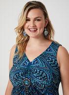 Robe maxi à motif mosaïque, Bleu, hi-res