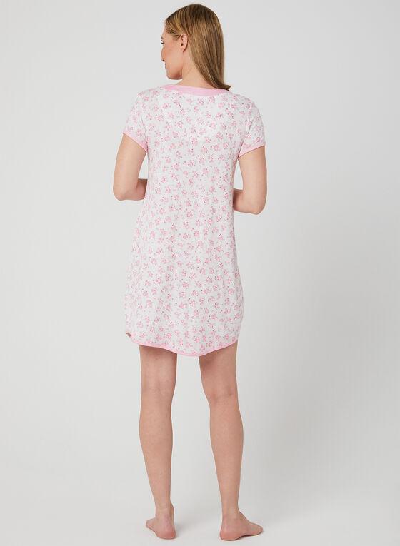 René Rofé - Floral Print Nightgown , White