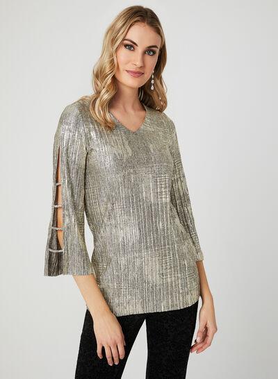 Metallic Knit Top